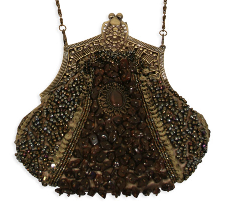 1800s Ladies Green Beaded Fabric,Metal Solid,Medallion Pur | 19th Century | Historical | Period Clothing | Theatrical || Beaded Medallion Purse - Olive