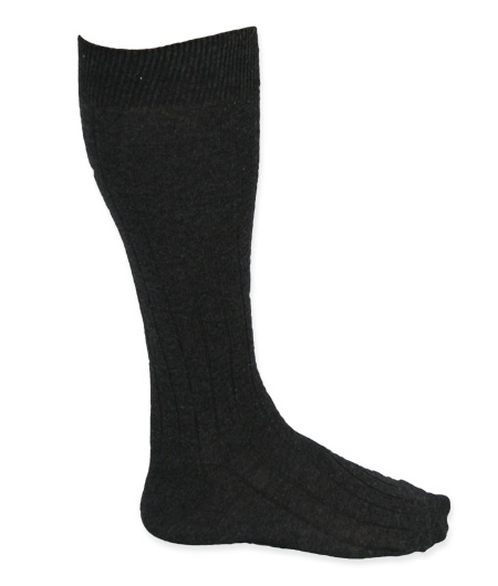 Vintage Mens Gray Stockings | Romantic | Old Fashioned | Traditional | Classic || Mens Calf-Length Socks - Charcoal