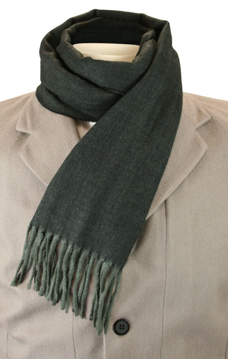 1800s Mens Gray Wool Solid Scarf | 19th Century | Historical | Period Clothing | Theatrical || Cashmere Wool Scarf - Charcoal