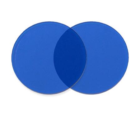 Wedding Mens Blue Plastic Lens | Formal | Bridal | Prom | Tuxedo || Spare 50mm Lenses - Blue (one pair)