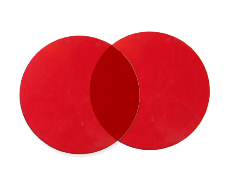 Steampunk Mens Red Plastic Lens | Gothic | Pirate | LARP | Cosplay | Retro | Vampire || Spare 50mm Lenses - Red (one pair)