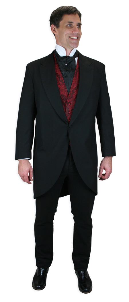 Victorian Mens Black Solid Dress Pants   Dickens   Downton Abbey   Edwardian    Callahan Dress Trousers - Black