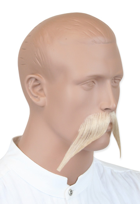 Vintage Mens Blonde Natural Mustache | Romantic | Old Fashioned | Traditional | Classic || Walrus Mustache - Blonde