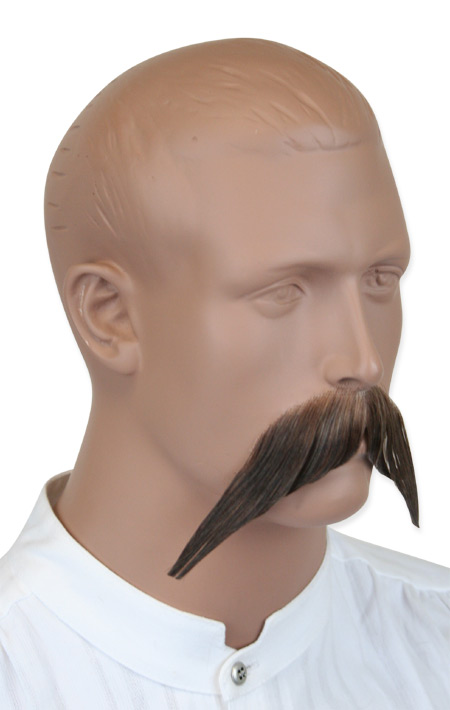 Victorian Mens Brown Natural Mustache | Dickens | Downton Abbey | Edwardian || Walrus Mustache - Brown
