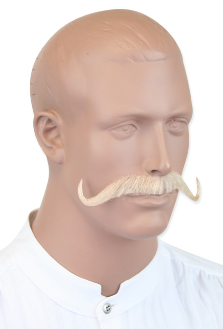 Vintage Mens Blonde Natural Mustache | Romantic | Old Fashioned | Traditional | Classic || Musketeer Mustache - Blonde