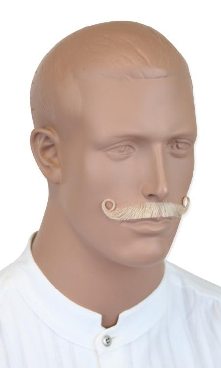 Steampunk Mens Blonde Natural Mustache | Gothic | Pirate | LARP | Cosplay | Retro | Vampire || Ambassador Mustache - Ash Blonde
