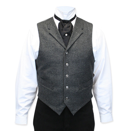 Burford Vest - Gray Tweed