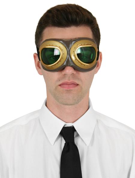 Steampunk Mens Gold Plastic Goggles | Gothic | Pirate | LARP | Cosplay | Retro | Vampire || Barnstormer Goggles