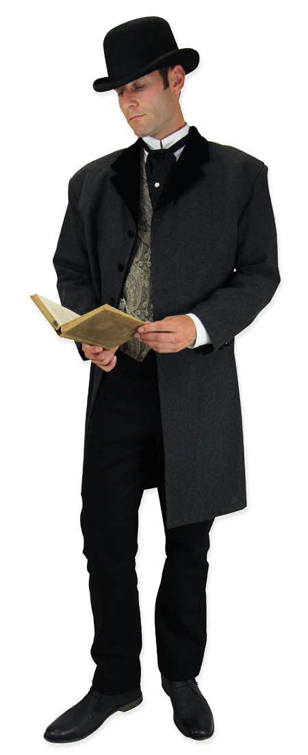 Victorian Mens Black Wool Felt Derby | Dickens | Downton Abbey | Edwardian || Tall Derby - Black Wool