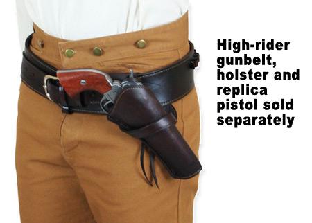 Western Holster - RH Cross-Draw - Plain Brown Leather