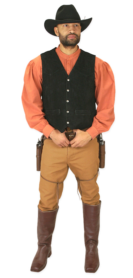 Steampunk Mens Brown Cotton Solid Band Collar Work Shirt | Gothic | Pirate | LARP | Cosplay | Retro | Vampire || Fundamental Work Shirt - Burnt Orange