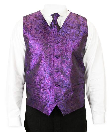 Purple Showmans Vest