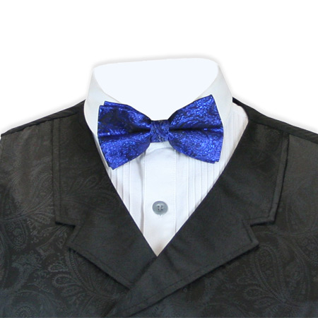 1800s Mens Blue Paisley Bow Tie | 19th Century | Historical | Period Clothing | Theatrical || Showman Bow Tie - Royal
