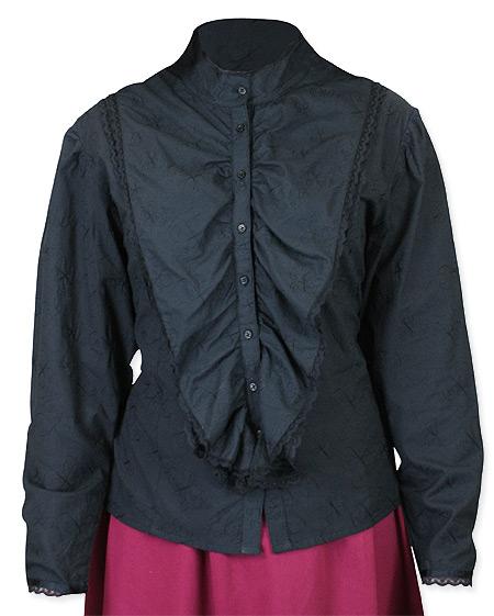 Lingerie Lace Blouse - Black