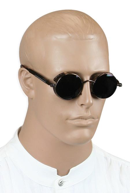 Steampunk Mens Brown Alloy Sunglasse | Gothic | Pirate | LARP | Cosplay | Retro | Vampire || Wasteland Shades - Bronze