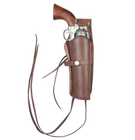 Wedding Mens Brown Leather Un-Tooled Holster | Formal | Bridal | Prom | Tuxedo || Western Holster - RH Draw - Plain Chocolate Brown Leather