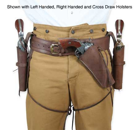 Western Holster - LH Draw - Plain Chocolate Brown Leather