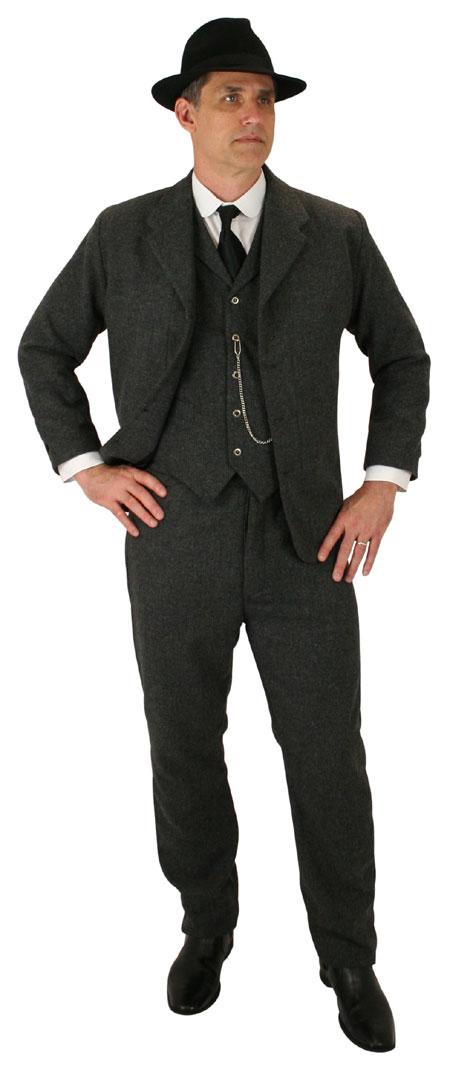1800s Mens Black Wool Felt Fedora | 19th Century | Historical | Period Clothing | Theatrical || Fedora - Black