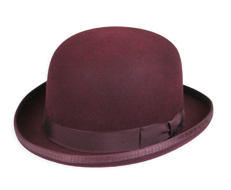 Vintage Mens Burgundy Wool Felt Derby | Romantic | Old Fashioned | Traditional | Classic || Deluxe Felt Derby - Burgundy