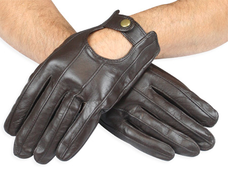 Victorian Mens Brown Leather Gloves   Dickens   Downton Abbey   Edwardian    Mens Leather Driving Gloves - Walnut