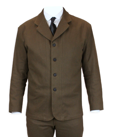 Sable Brushed Cotton Sack Coat