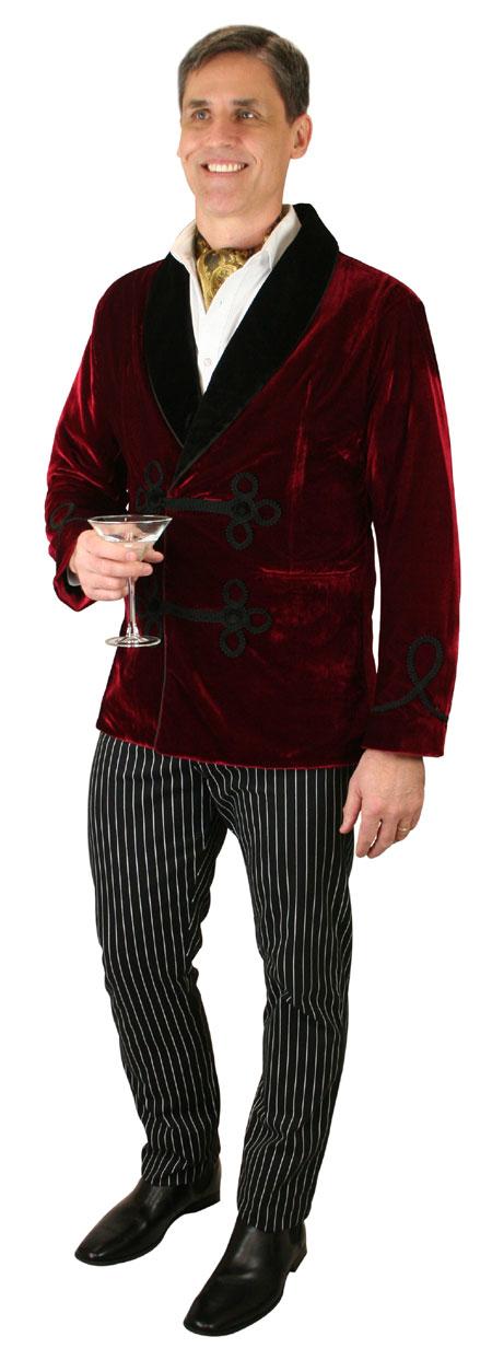 Wedding Mens Burgundy,Red Velvet Solid Shawl Collar Smoking Jacket | Formal | Bridal | Prom | Tuxedo || Vintage Smoking Jacket - Burgundy Velvet