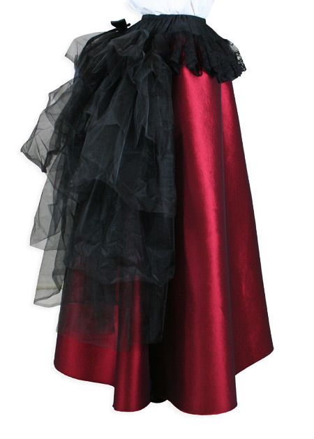 Wedding Ladies Black Bustle | Formal | Bridal | Prom | Tuxedo || Tulle Bustle Skirt - Black