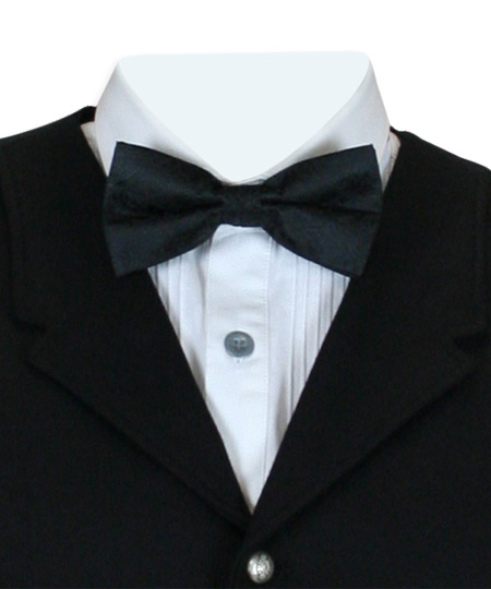 Steampunk Mens Black Paisley Bow Tie | Gothic | Pirate | LARP | Cosplay | Retro | Vampire || Montgomery Paisley Bow Tie - Black