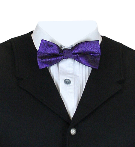 1800s Mens Purple Paisley Bow Tie | 19th Century | Historical | Period Clothing | Theatrical || Montgomery Paisley Bow Tie - Purple