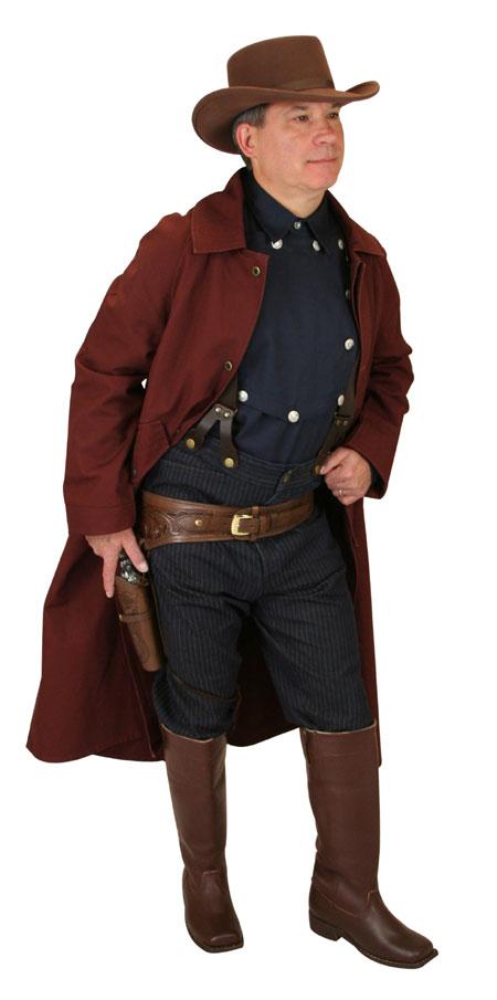 Steampunk Mens Blue Cotton Solid Point Collar Bib Shirt | Gothic | Pirate | LARP | Cosplay | Retro | Vampire || Longview Bib Shirt - Navy
