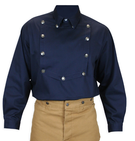 longview bib shirt-navy