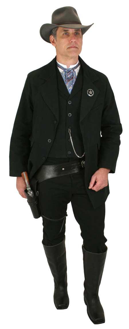 Wedding Mens Black Cotton Solid Notch Collar Town Coat | Formal | Bridal | Prom | Tuxedo || Livingston Black Brushed Cotton Town Coat - Black