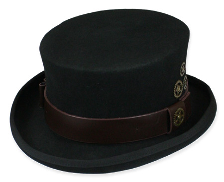 Victorian Mens Black Wool Felt Top Hat | Dickens | Downton Abbey | Edwardian || Paragon Top Hat - Black