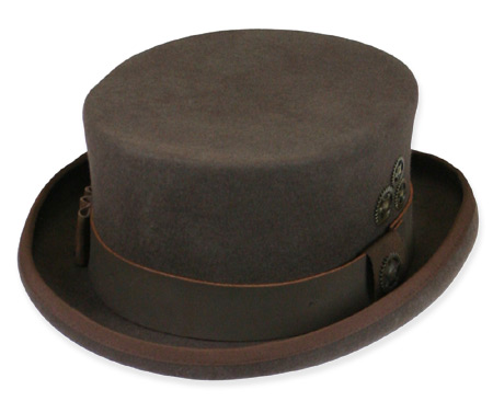 Victorian Mens Brown Wool Felt Top Hat | Dickens | Downton Abbey | Edwardian || Paragon Top Hat - Brown