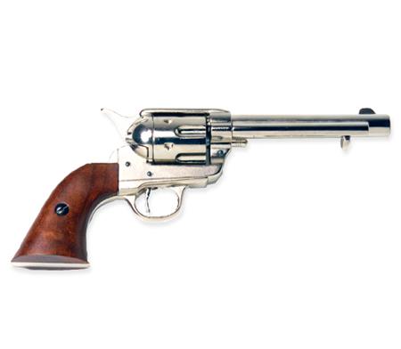 Wedding Mens Silver Replica Weapon | Formal | Bridal | Prom | Tuxedo || 1873 Western Frontier Pistol Replica - Nickel