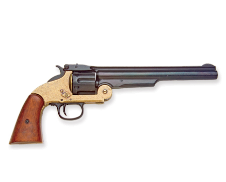 Vintage Mens Black Replica Weapon | Romantic | Old Fashioned | Traditional | Classic || M1869 Schofield Replica - Brass / Black