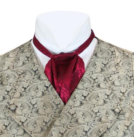 Silk Puff Tie - Burgundy