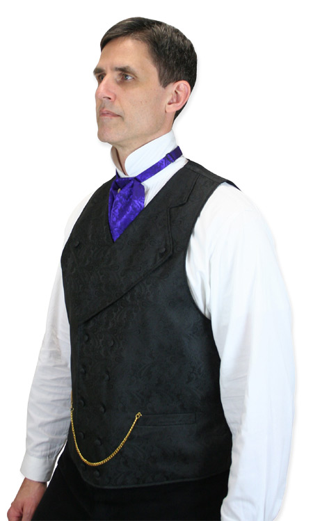 Wedding Mens Purple Silk Floral Puff Tie   Formal   Bridal   Prom   Tuxedo    Silk Puff Tie - Purple