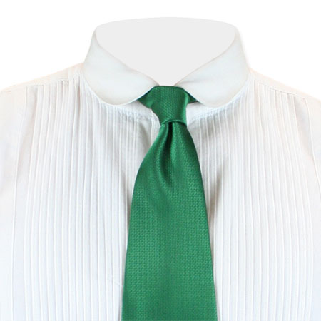 Vintage Mens Green Solid Four-In-Hand Tie | Romantic | Old Fashioned | Traditional | Classic || Mulcahy Four-In-Hand Tie - Green