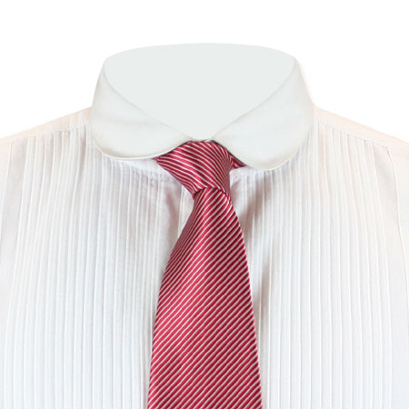 Vintage Mens Red Stripe Four-In-Hand Tie | Romantic | Old Fashioned | Traditional | Classic || Confectionery Stripe Four-In-Hand Tie - Red/White