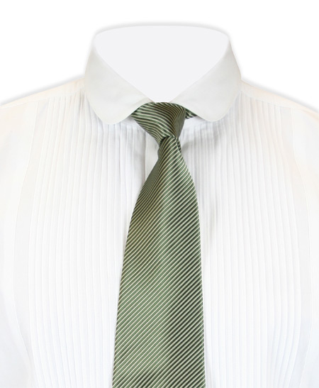 Wedding Mens Green Stripe Four-In-Hand Tie | Formal | Bridal | Prom | Tuxedo || Confectionery Stripe Four-In-Hand Tie - Green/White