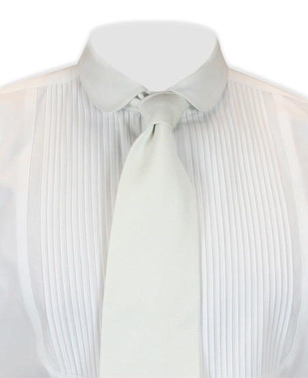 Wedding Mens Ivory Solid Four-In-Hand Tie | Formal | Bridal | Prom | Tuxedo || Lansing Four-In-Hand Tie - Ivory