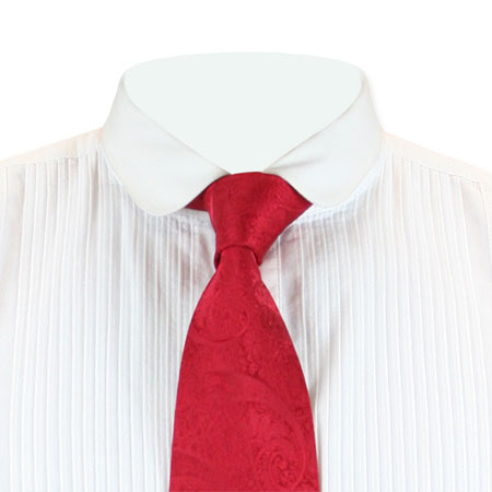 Victorian Mens Red Paisley Four-In-Hand Tie | Dickens | Downton Abbey | Edwardian || Montgomery Four-In-Hand Tie - Red