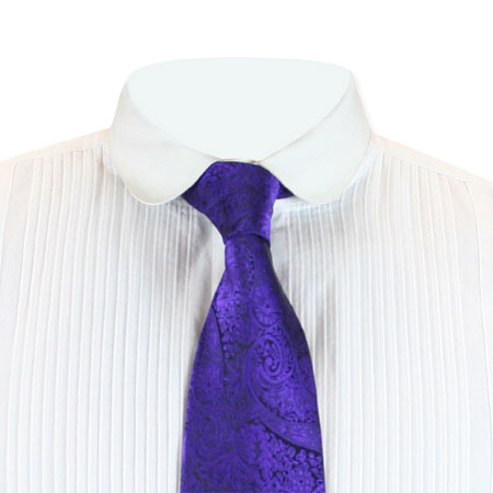1800s Mens Purple Paisley Four-In-Hand Tie | 19th Century | Historical | Period Clothing | Theatrical || Montgomery Four-In-Hand Tie - Purple