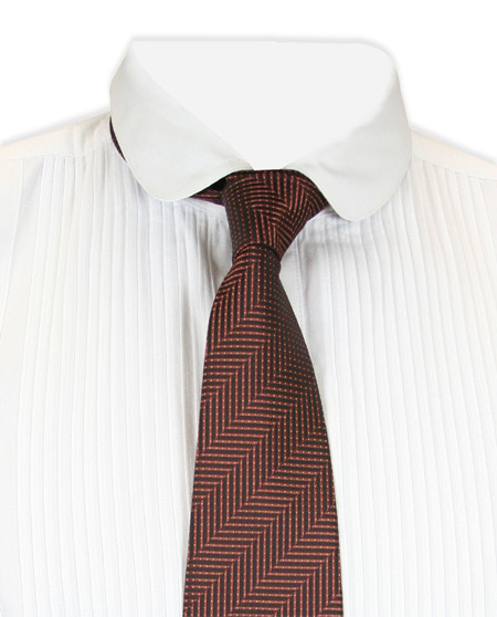 Steampunk Mens Brown Stripe Four-In-Hand Tie | Gothic | Pirate | LARP | Cosplay | Retro | Vampire || Morgan Four-In-Hand Tie - Brown