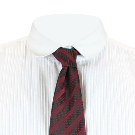 Steampunk Mens Red Stripe,Geometric Four-In-Hand Tie | Gothic | Pirate | LARP | Cosplay | Retro | Vampire || Carnegie Four-In-Hand Tie - Red
