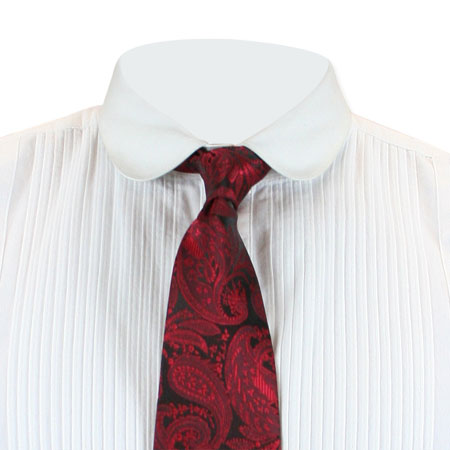 Victorian Mens Red Paisley Four-In-Hand Tie | Dickens | Downton Abbey | Edwardian || Maximillian Four-In-Hand Tie - Red