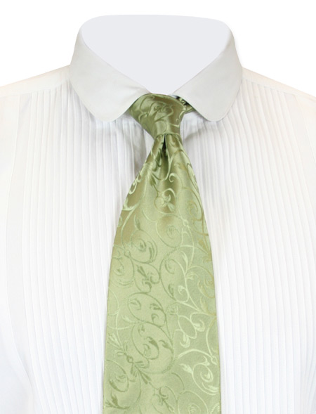 Steampunk Mens Green Stripe Four-In-Hand Tie | Gothic | Pirate | LARP | Cosplay | Retro | Vampire || Doyle Four-In-Hand Tie - Olive