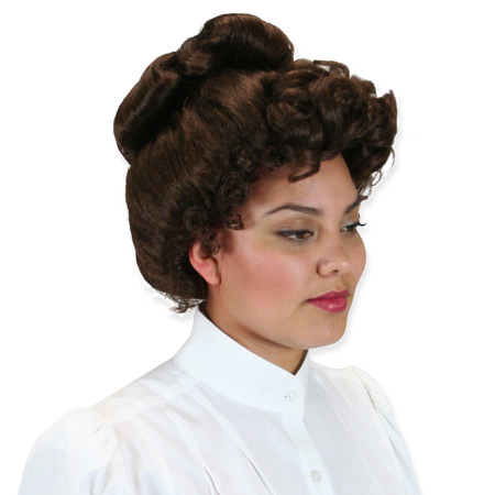 Vintage Ladies Brown Wig | Romantic | Old Fashioned | Traditional | Classic || McKenna Wig - Brown