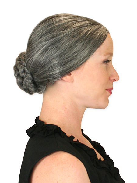 Victorian Ladies Gray Wig | Dickens | Downton Abbey | Edwardian || Dolores Wig - Gray